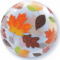 22 Inch Fall Leaves Bubble Balloon