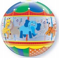 22 Inch Zoo Animals Carousel Bubble Balloon