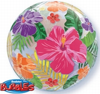 22 Inch Tropical Hibiscus Garden Bubble Balloon