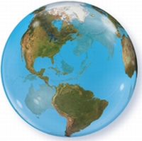 22 Inch Planet Earth Bubble Balloon