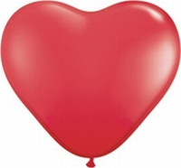 Q6 Inch Heart  Standard - Red 100ct