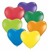 Q6 Inch  Hearts - Carnival Assortment 100ck