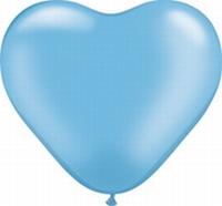 Q6 Inch Heart  Standard - Pale Blue 100ct