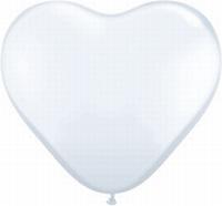 Q6 Inch Heart  Standard - White 100ct