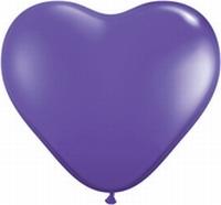 Q6 Inch Heart Fashion - Purple Violet 100ct