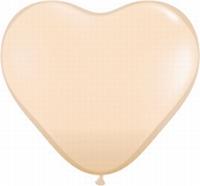Q6 Inch Heart Fashion - Blush 100ct