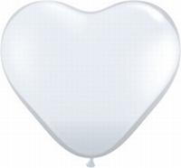 Q6 Inch Heart Jewel - Diamond Clear 100ct