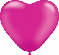 Q6 Inch Heart Pearl - Magenta 100ct