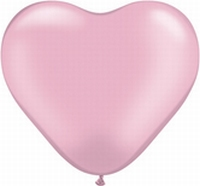 Q6 Inch Heart Pearl - Pink 100ct