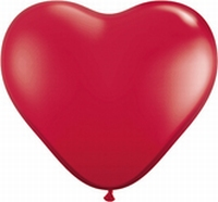 Q15 Inch Heart - Ruby Red 50pk
