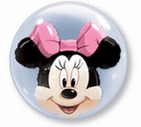 24 Inch Minnie Mouse Double Bubble