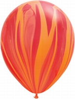 Q30 Inch SuperAgate - Red Orange Rainbow  per 2 stuks