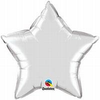 20 Inch Silver Star Foil