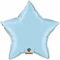 20 Inch Pearl Light Blue Star Foil