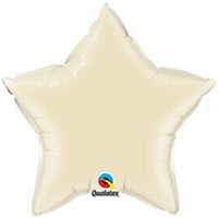 20 Inch Pearl Ivory Star foil