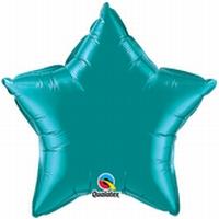20 Inch Teal Star Foil