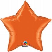 20 Inch Orange Star Foil