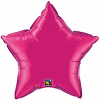 20 Inch Magenta Star Foil