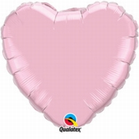 18 Inch Pearl Pink Heart Foil
