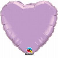 18 Inch Pearl Lavender Heart Foil