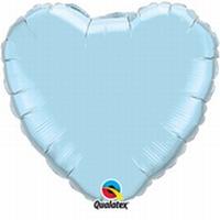 18 Inch Pearl Light Blue Heart Foil
