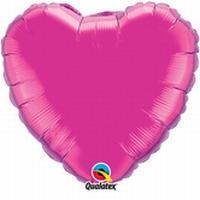 18 Inch Magenta Heart Foil