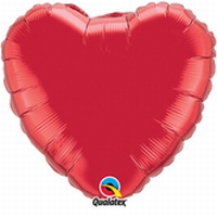 18 Inch Ruby Red Heart Foil