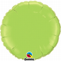 18 Inch  Lime Green Round Foil