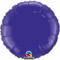 18 Inch  Quartz Purple Round Foil