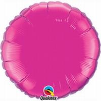 18 Inch  Magenta Round Foil