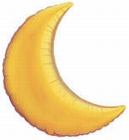 9 Inch Crescent Moon - Gold