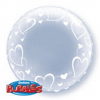 24 Inch Stylish Hearts Deco Bubble