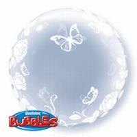 24 Inch Roses & Butterflies Deco Bubble