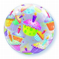 Q22 Inch Cupcakes Bubble Balloon