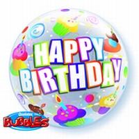 22 Inch Colourful Cupcakes Birthday Bubble Balloon