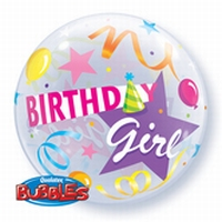 22 Inch Birthday Girl Party Hat Bubble