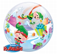 22 Inch Merry Elves Bubble Balloon