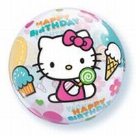 22 Inch Hello Kitty Birthday Bubble Balloon