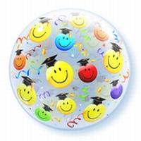 22 Inch Grad Smile Faces Bubble Balloon