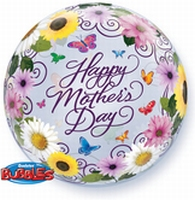 22 Inch Happy Mothers Day Bubble Balloon