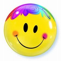 22 Inch Bright Smile Face Bubble Balloon
