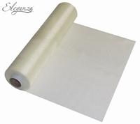 Eleganza Soft Sheer Organza 29cm x 25m Ivory