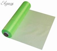 Eleganza Soft Sheer Organza 29cm x 25m Lime Green