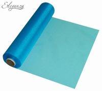 Eleganza Soft Sheer Organza 29cm x 25m Turquoise