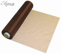 Eleganza Soft Sheer Organza 29cm x 25m Chocolate