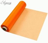 Eleganza Soft Sheer Organza 29cm x 25m Orange