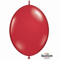 Quicklink 6 inch jewel RUBY RED  1 X 50 stuks