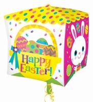 Easter Chicks And Bunnies Cubez Foil Balloon