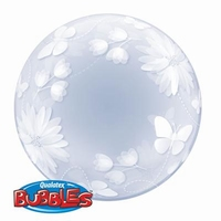 20 Inch Butterflies and Flowers - Deco Bubble