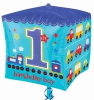 All Aboard 1st Birthday Cubz Foil Balloon